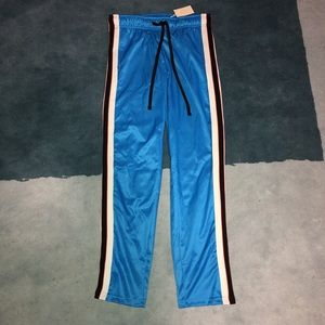 Bright Blue Vintage 90's Tearaway Track Pants